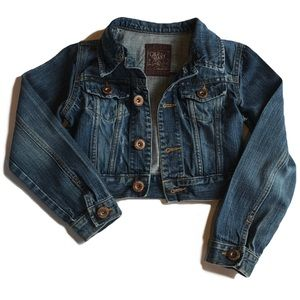 Old Navy | Denim Jacket with Grunge Detail S EUC